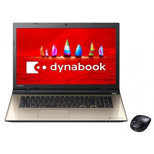 Toshiba 17.3-inch laptop dynabook T67 / VG Satin Gold (with Office Home & Business Premium) PT67VGP-BJA