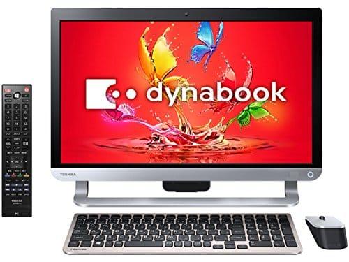 Toshiba 21.5-inch desktop PC dynabook D71 / UB Precious Black (Office Home & Business Premium Plus Office 365) PD71UBP-BWA